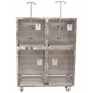 Stainless Steel Cat Cages Pet Dog Cage Bank Modular Pet Kennels