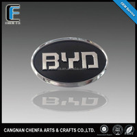 Famous car logo and their name 3D self-adheisve ABS plastic chrome plated car wheel cap