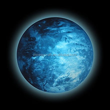 luminious planet,glow in the dark planet,blue full moon sticker