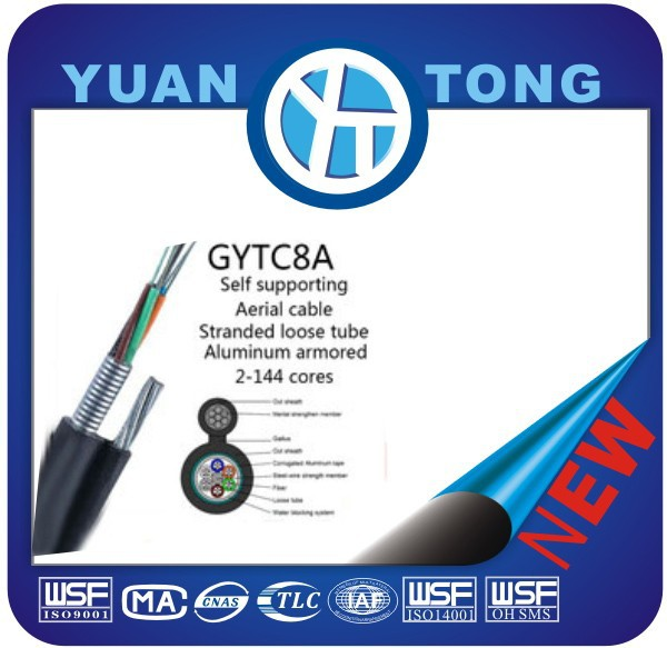 China manufacture of GYTC8A Stranded Loose Tube Figure 8 Self-Supporting Aerial GYTC8A Fiber Optic Cable