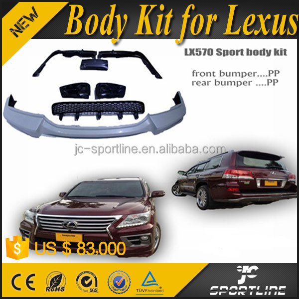 PP Material LX570 Sport Body Kit for Lexus