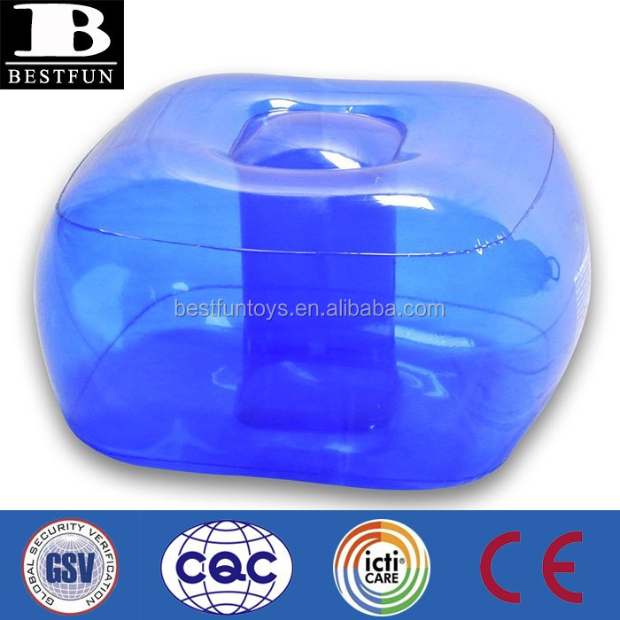 Custom Made Transparent Inflatable Foot Stools Pvc Soft