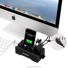 ORICO USB 3.0 hdd docking station SD TF Slot all in one dual usb 3.0 hdd docking station with OTG Function