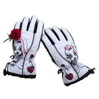 Wholesale warm acrylic cotton female winter sports gloves