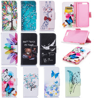 Wallet Stand Flip Leather Case Flower Holster For Huawei P10 Plus Phone Bag Luxury Cover case for netbook