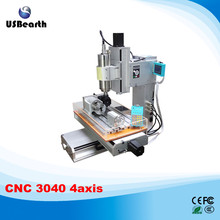 cnc router 3040 with a axis rotation axis high performance water tank cnc engraver