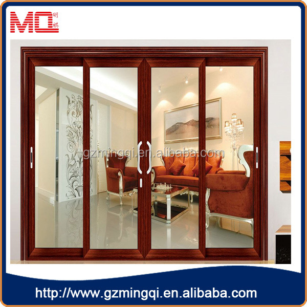 Fancy design aluminum double glass interior sliding barn
