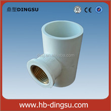 Water Supply tee with rubber ring plastic tee/Professional Factory Copper Pipe Brass Fitting