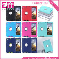 Robot Cover 3IN1 Combination Drop Resistance PC Case For iPad Mini 1 2 3
