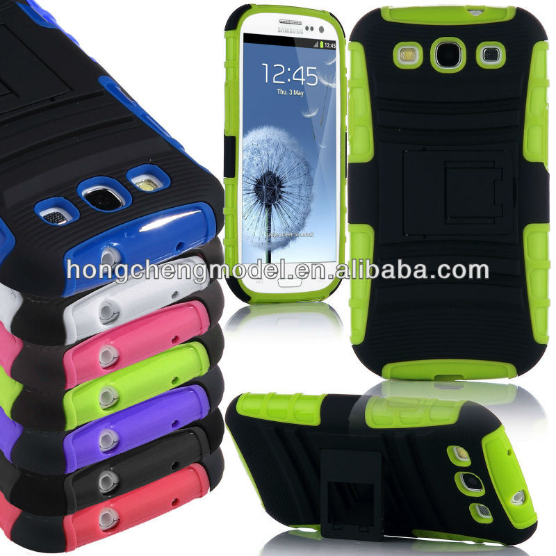 Rugged Heavy Duty Kickstand phone cases For Samsung Galaxy S3 i9300