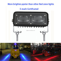 Red Zone Led Forklift Light Safety Warning No Go Line Light For Forklift