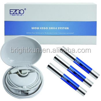 WOW EZGO white smile usb home teeth whitening kit phone light android iphone