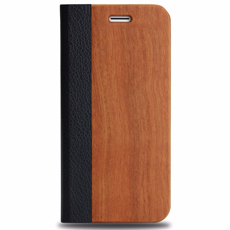<strong>HOT</strong> ! wood fashion cover for iPhone 6 mobile phone leather phone case