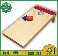 wooden cornhole games and bean bag toss for outdoor sports