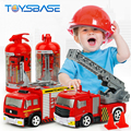Kids Mini 4CH Fire Engine Ladder Car 1:58 RC Firetruck Toy