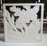Exterior wall low Relief scuplture decorative flower wall art decor