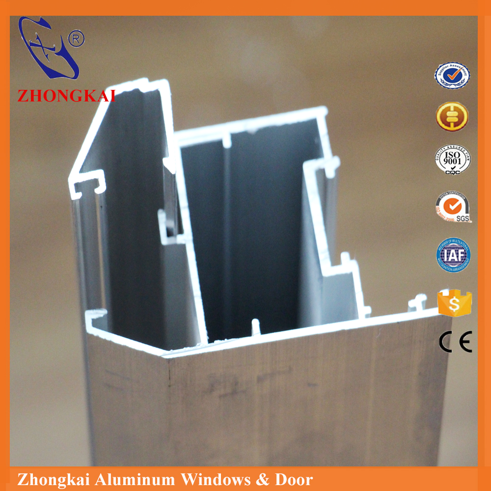 plant supplying wood grain aluminium extrusion profile for sliding glass window frame