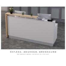 Modern Design Laminated Wood Library reception desk / front counter circulation desk