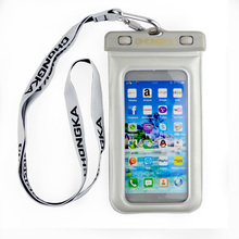 pouch fancy waterproof mobile phone carry bag with lanyard