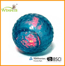 TPR DOGS TOY BALL WITH LED LIGHT