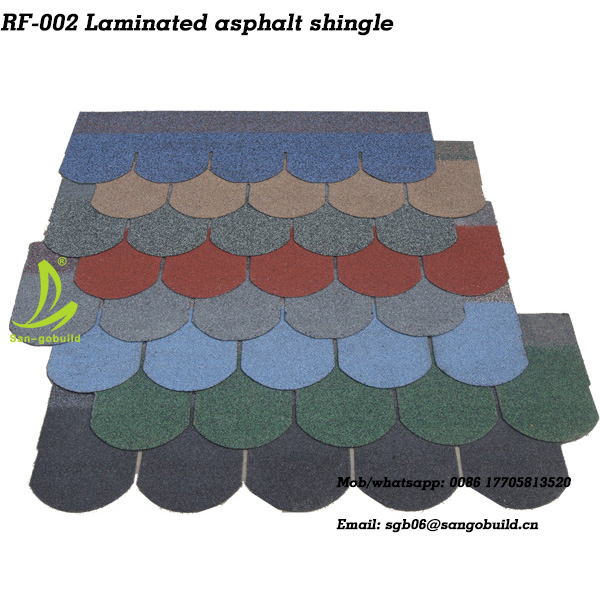 5 tab asphalt shingle/ round roofing shingle/ thailand asphalt shingle