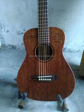 wholesale mini travel guitar solid mahogany guitars chinese acoustic electric guitar
