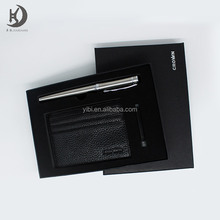 Wholesale high quality custom logo promotional business card holder gift fountain pen set with box