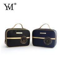 2016 Wholesale fashion custom satin hanging makeup gift pouch cosmetic bag for promotion