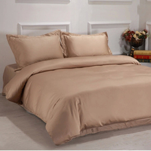 3 piece 600 thread count full size plain dyed woven cotton bed linen