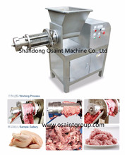 stainless steel automatic machine to dissociate turkey bones and meat