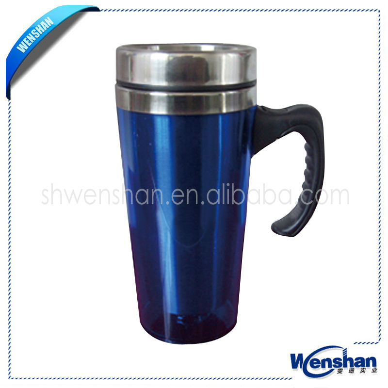 Promotional stainless steel coffee mugs with handle