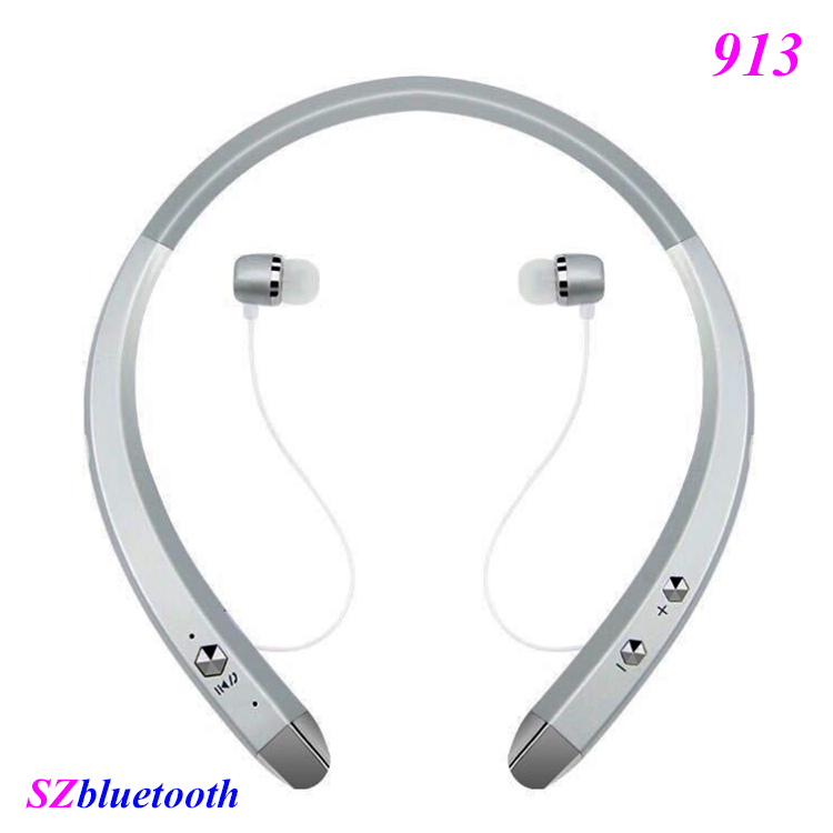 Custom logo 913 V4.0 wireless stereo neckband bluetooth earphones