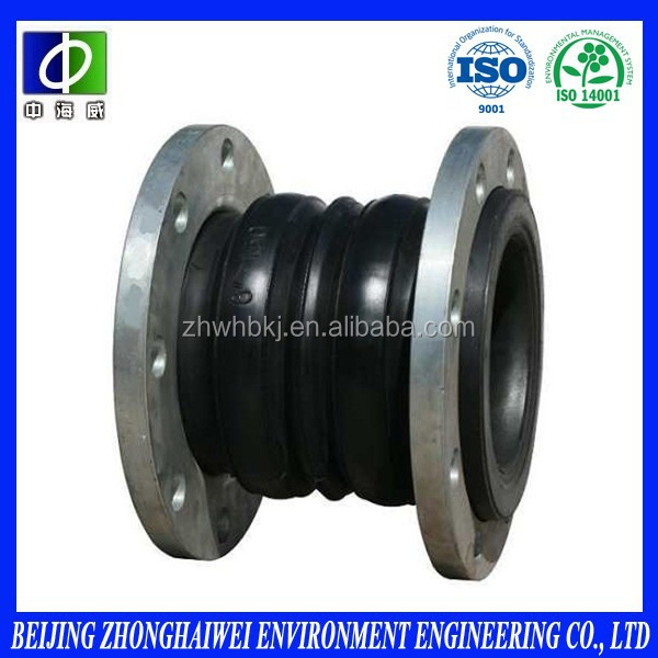 12 years OEM experience epdm double-sphere flanged rubber expansion joints