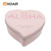 Latest style candy tin case with heart shape can customized