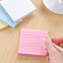 China Supplier free Samples Colorful Line Square Shaped Sticky Notes Memo Pad