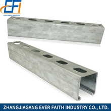 Hot Dip Corrosion Resistance Slotted Galvanized Steel C Channel