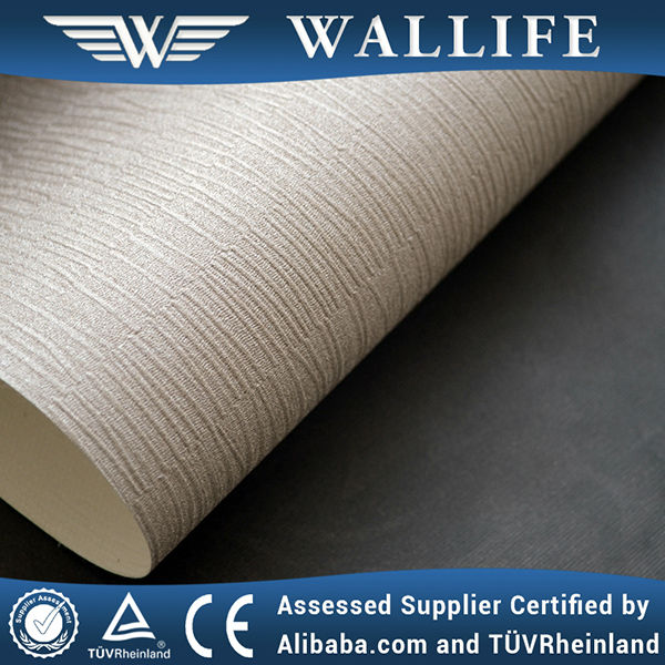 WLF0605 hotel wall decoration waterproof fire resistant fabric vinyl wallpaper