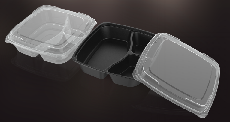 plastic reusable compartment meal prep containers 0.8L