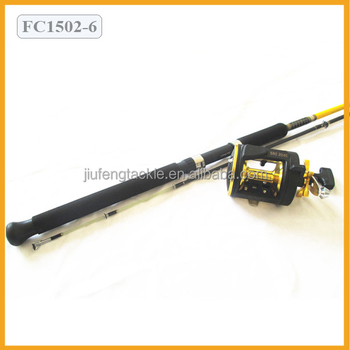 Fiberglass Fishing Rods and Golden Fishing Reel Fishing Rods and Reel