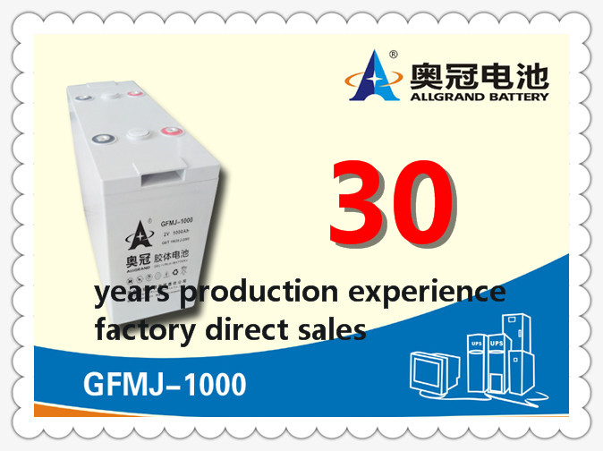 AGM Solar gel deep cycle lead acid Battery 2v1000Ah FOR OFF-grid systerm / ups