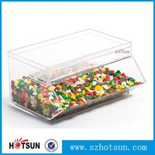 acrylic candy storage boxes display rack for shop