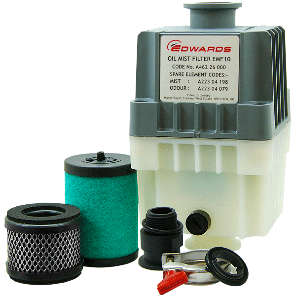 Edwards EMF10 Oil Mist Filter, KF25 Ports, For RV3, RV5, RV8 Vacuum Pumps, A462-26-000