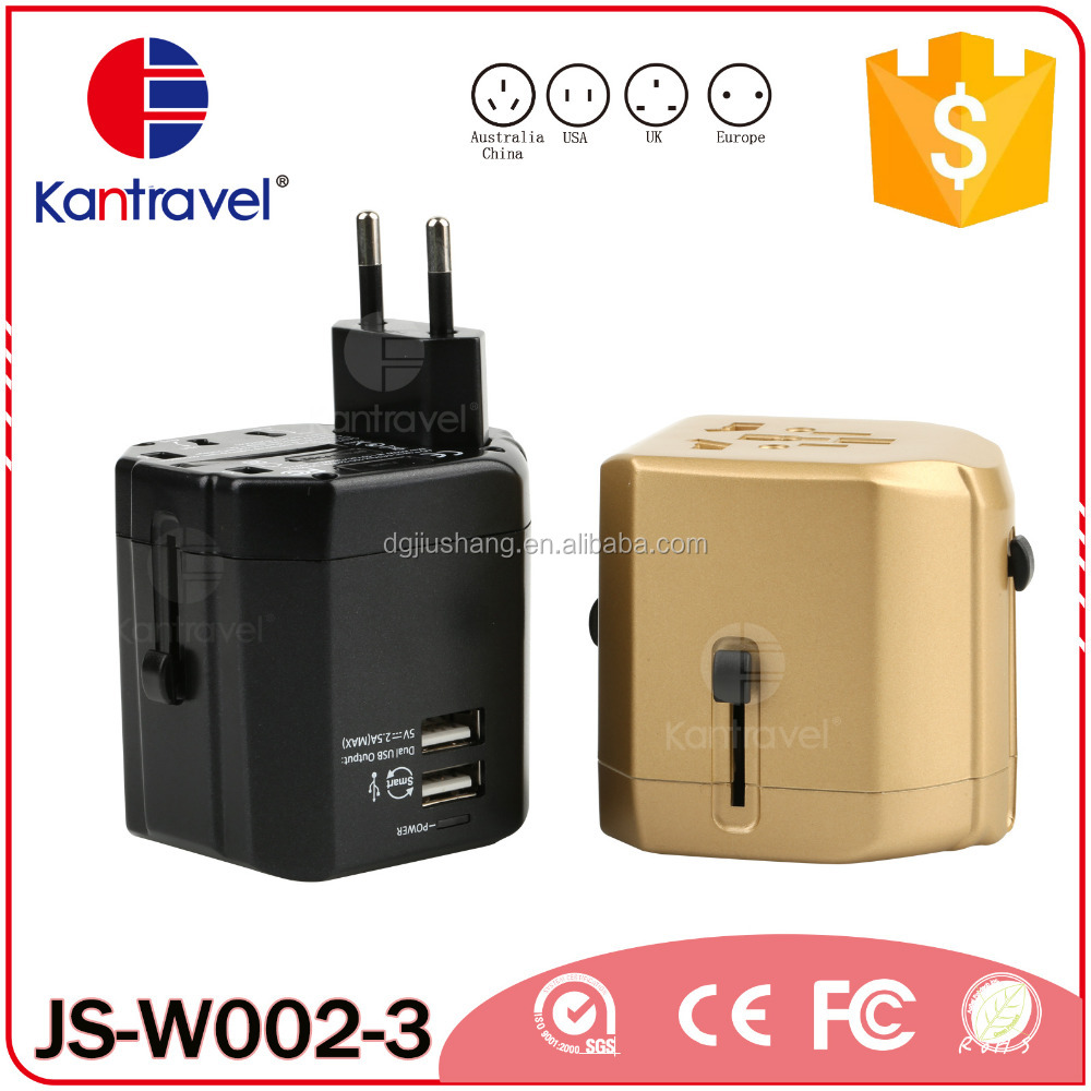 W002 Low cost and attractive promotional gift, corporate gift item universal travel adapter