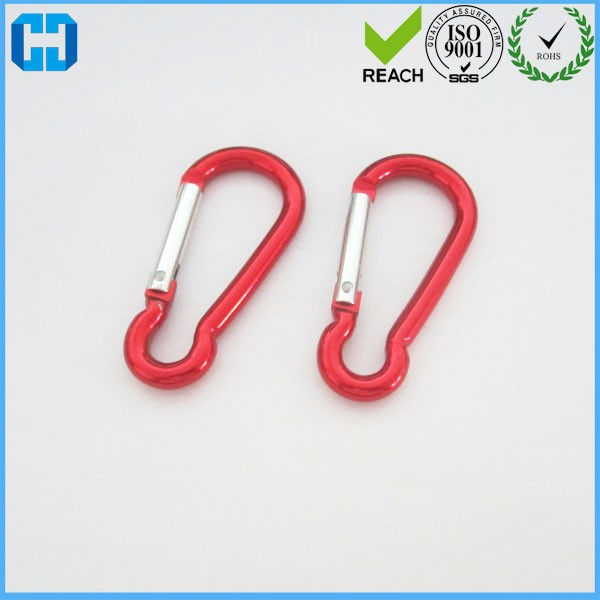Good Quality Outdoor Sports Safety Buckle Keychain Hook Aluminum Carabiner Keyring