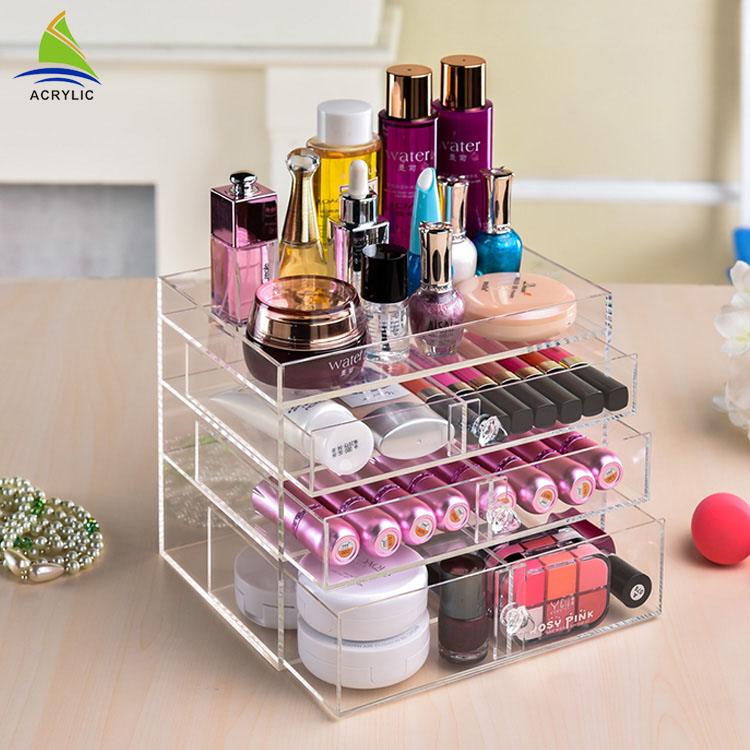 Wholesale clear acrylic cosmetic display case