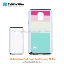 Durable 2in1sublimation phone cover for Samsung Note4,2in1 phone case