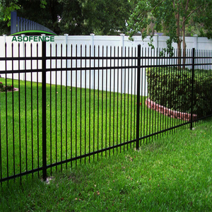 cheap spear top prefabricated wrought iron fence