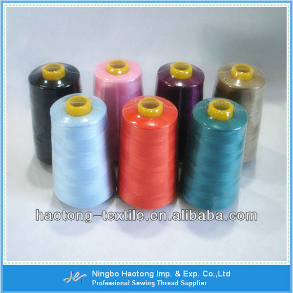 100% Spun Polyester Overlock Thread For Sewing
