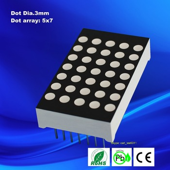 3mm 5x7 led Dot Matrix
