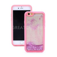 2016 wholesale Dynamic Flowing Glitter Quicksand cover colorful clear phone case for iphone 6 hard PC slim thin case